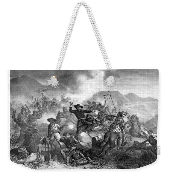 General Custer's Death Struggle  Weekender Tote Bag