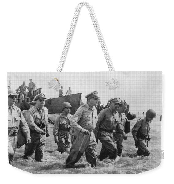General Douglas Macarthur Returns Weekender Tote Bag