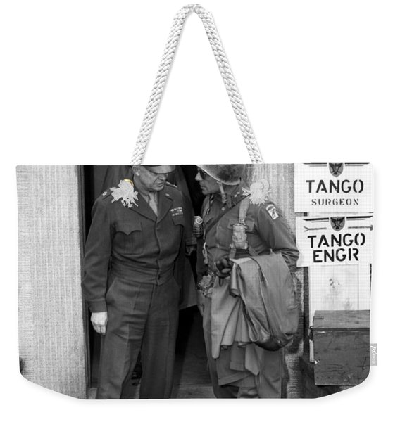 General Eisenhower And General Ridgway  Weekender Tote Bag