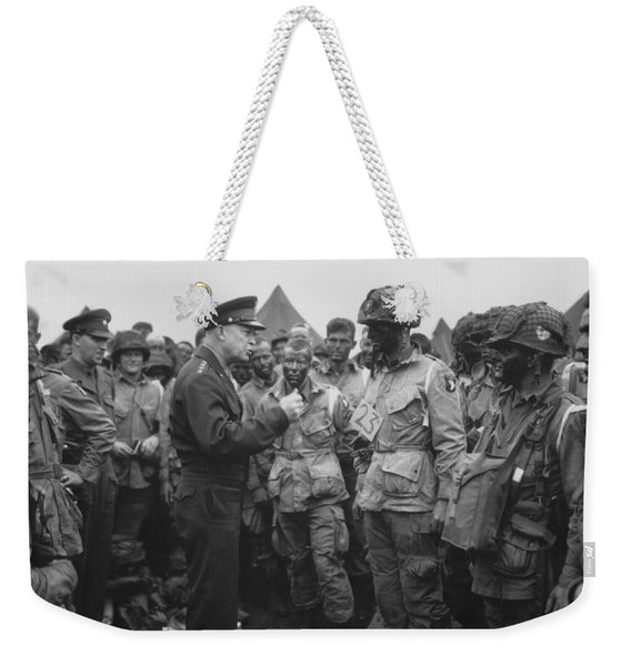 General Eisenhower On D-day  Weekender Tote Bag