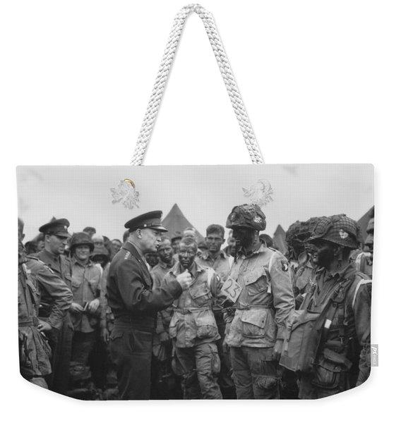 General Eisenhower On D-day  Weekender Tote Bag