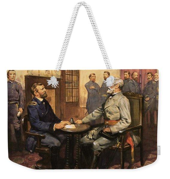 General Grant Meets Robert E Lee  Weekender Tote Bag
