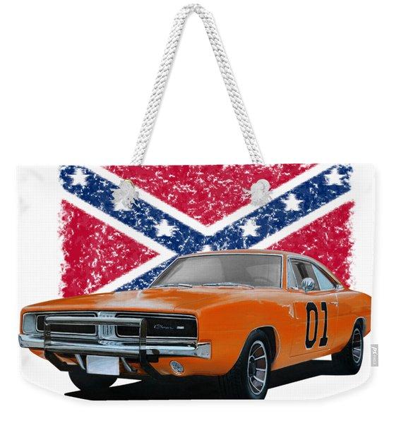 General Lee Rebel Weekender Tote Bag