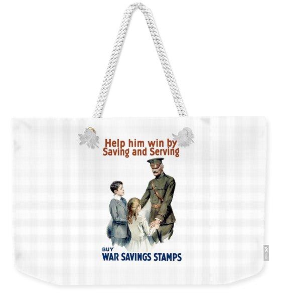 General Pershing - Buy War Saving Stamps Weekender Tote Bag