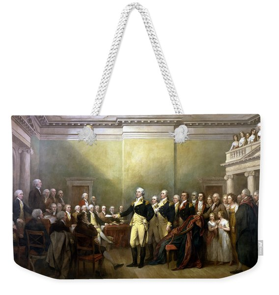 General Washington Resigning His Commission Weekender Tote Bag