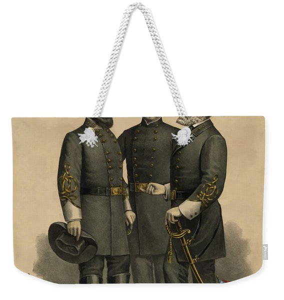 Generals Jackson Beauregard And Lee Weekender Tote Bag