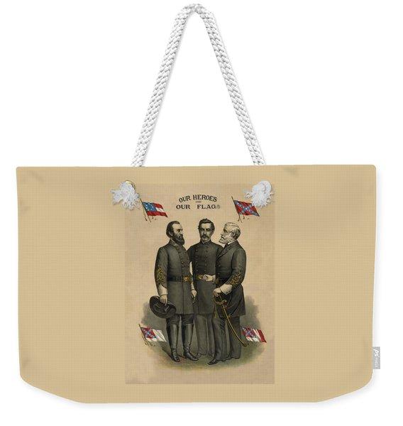 Generals Jackson Beauregard And Lee Weekender Tote Bag