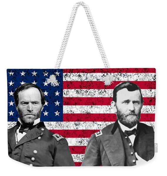 Generals Sherman And Grant  Weekender Tote Bag