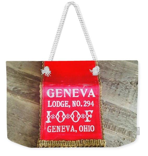 Geneva Ohio Odd Fellows Lodge  Weekender Tote Bag