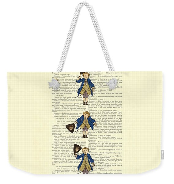 Gentlemen Taking A Bow Dressed As Napoleon Bonaparte Weekender Tote Bag