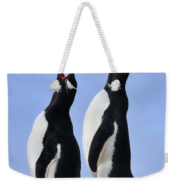 Gentoo Love Song Weekender Tote Bag