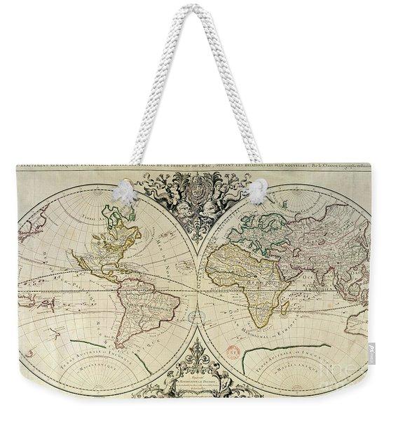 Geo-hydrographic Mappamonde Weekender Tote Bag