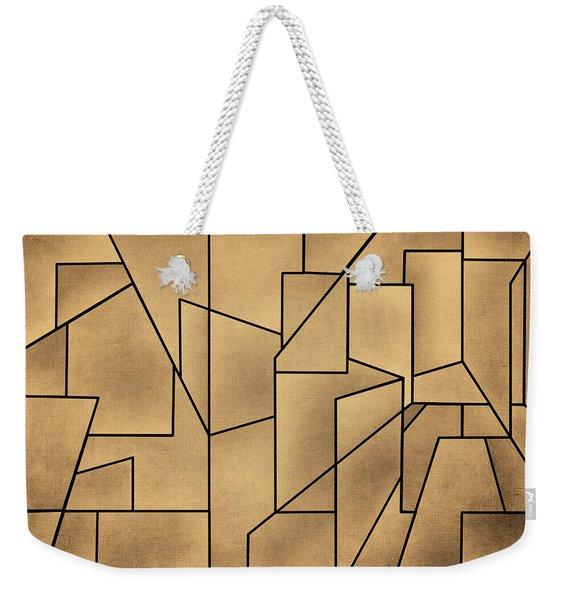 Geometric Abstraction IIi Toned Weekender Tote Bag