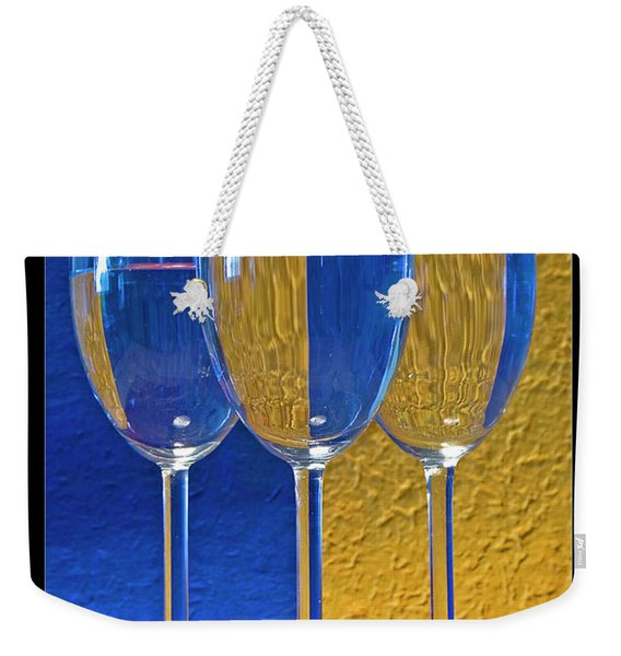 Geometrical Shapes, Colours And Glasses Weekender Tote Bag
