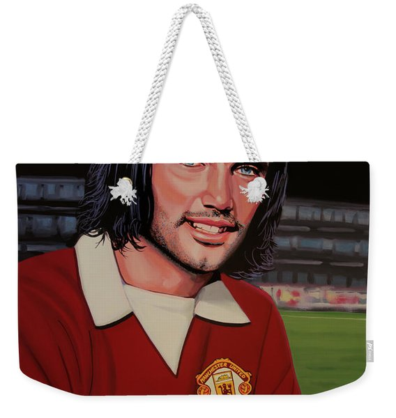 George Best Painting Weekender Tote Bag