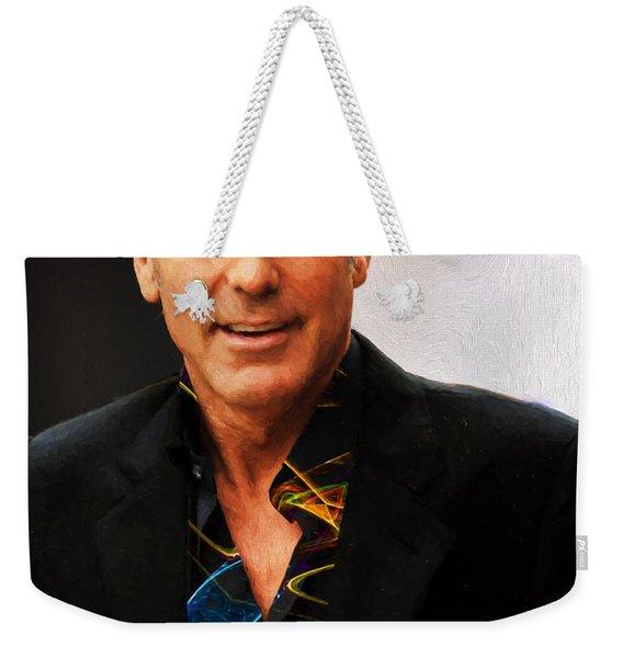 George Clooney Painting Weekender Tote Bag