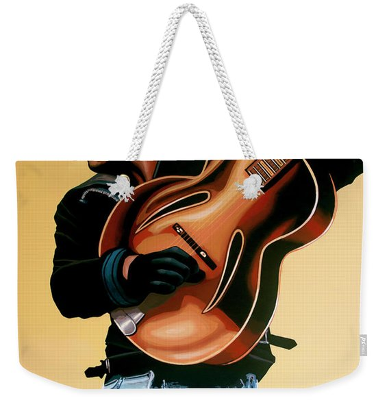 George Michael Painting Weekender Tote Bag