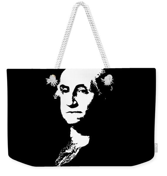 George Washington Black And White Weekender Tote Bag