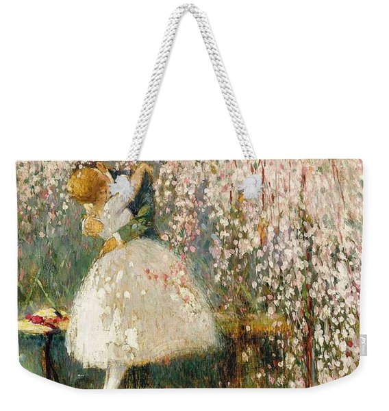 Georges Picard French 1857 1946 Romance Under The Blossom Tree Weekender Tote Bag