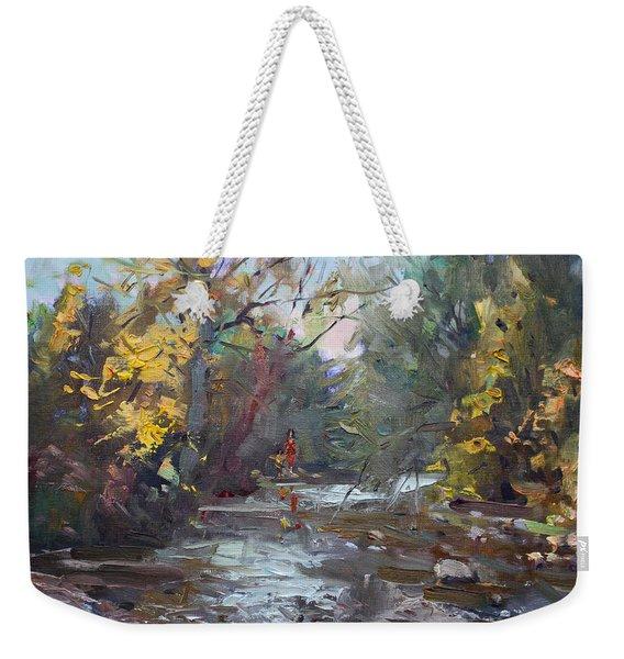Georgetown Fall Colors Weekender Tote Bag