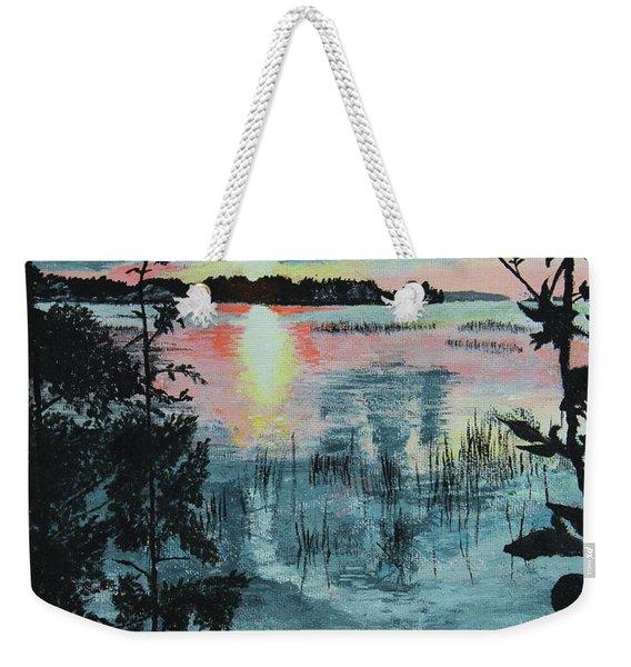 Georgian Bay Sunset Weekender Tote Bag