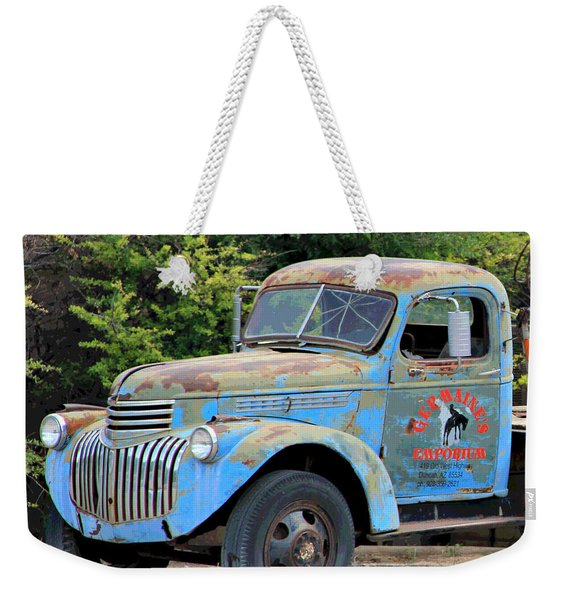 Geraine's Blue Truck Weekender Tote Bag