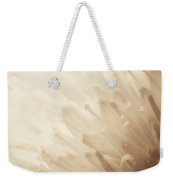 Gerbera Sepia Weekender Tote Bag