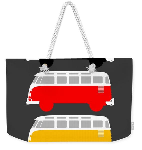 German Icon - Vw T1 Samba Weekender Tote Bag