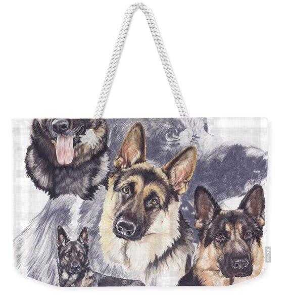 German Shepherd Medley Weekender Tote Bag