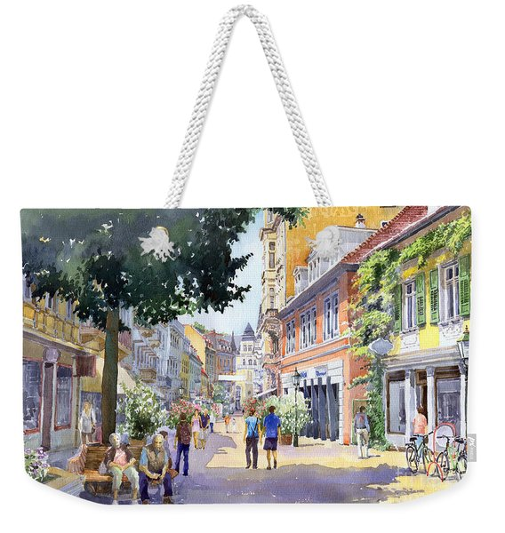 Germany Baden-baden Lange Strasse Weekender Tote Bag