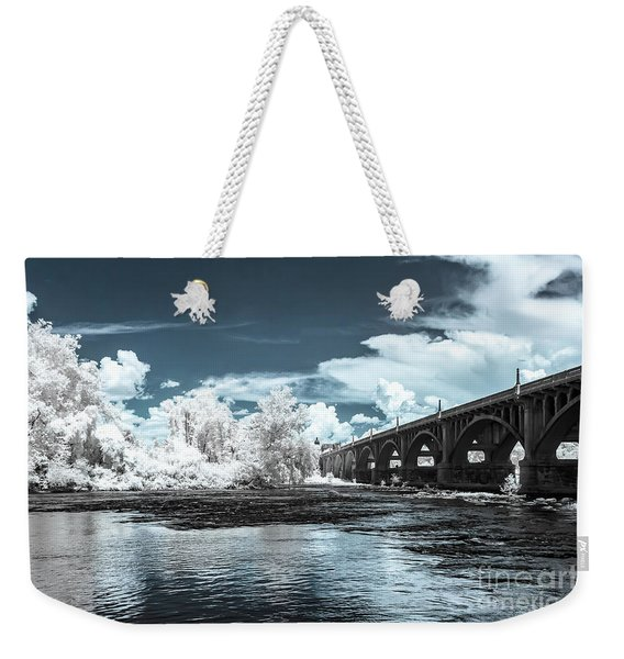 Gervais St. Bridge-infrared Weekender Tote Bag