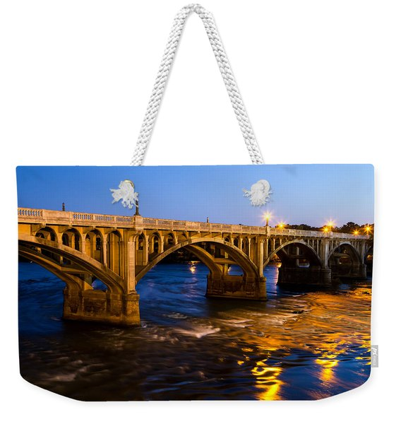 Gervais Street Bridge At Twilight Weekender Tote Bag