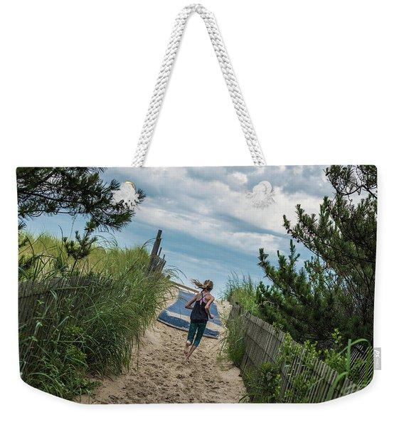 Get To The Beach Weekender Tote Bag