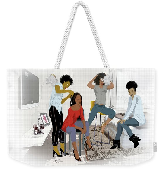 Getting Hair Did In Style Weekender Tote Bag
