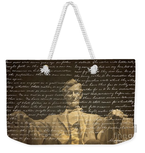 Gettysburg Address Weekender Tote Bag
