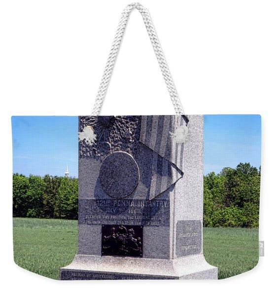 Gettysburg National Park 121st Pennsylvania Infantry Memorial  Weekender Tote Bag