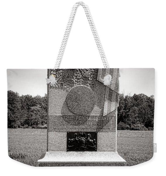Gettysburg National Park 121st Pennsylvania Infantry Monument Weekender Tote Bag