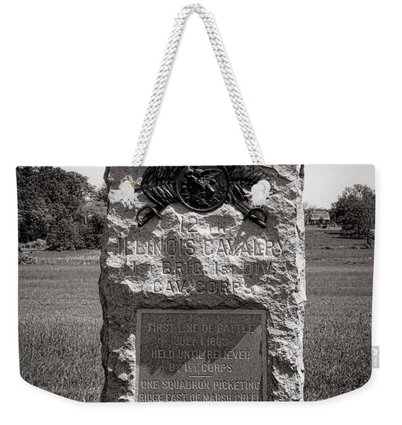 Gettysburg National Park 12th Illinois Cavalry Monument Weekender Tote Bag