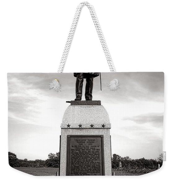 Gettysburg National Park 13th Vermont Infantry Monument Weekender Tote Bag