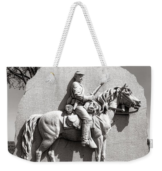 Gettysburg National Park 17th Pennsylvania Cavalry Monument Weekender Tote Bag