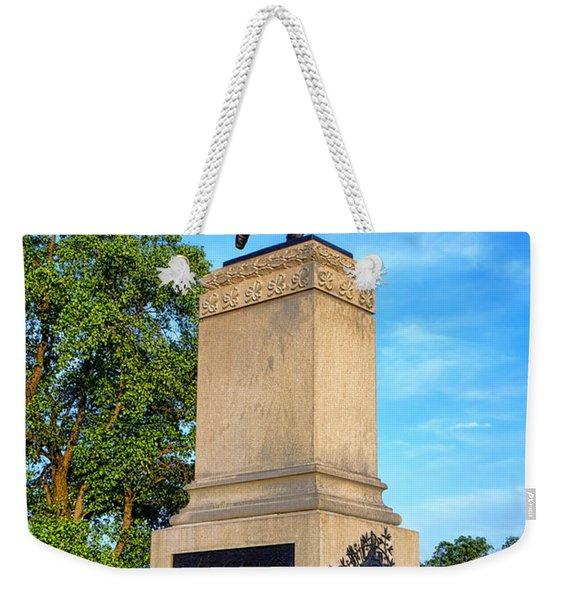 Gettysburg National Park 1st Minnesota Infantry Memorial Weekender Tote Bag