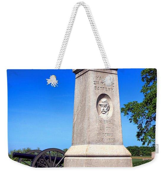 Gettysburg National Park 2nd Maine Battery Memorial Weekender Tote Bag