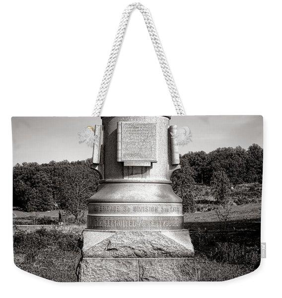 Gettysburg National Park 30th Pennsylvania Infantry Monument Weekender Tote Bag
