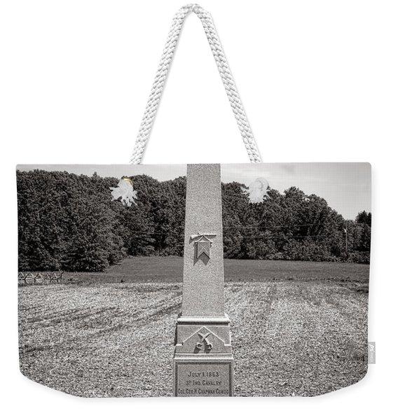 Gettysburg National Park 3rd Indiana Cavalry Monument Weekender Tote Bag