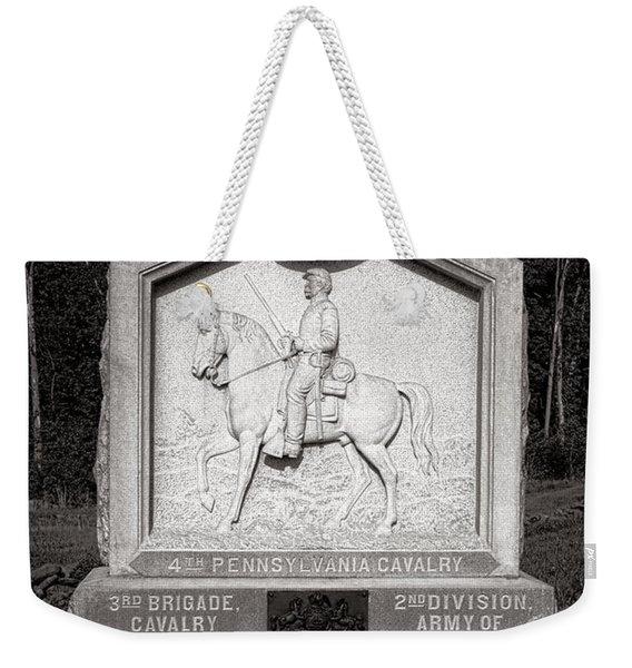 Gettysburg National Park 4th Pennsylvania Cavalry Monument Weekender Tote Bag