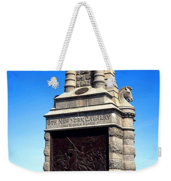 Gettysburg National Park 6th New York Cavalry Memorial Weekender Tote Bag