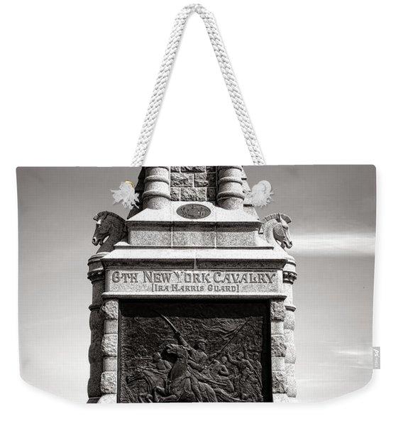 Gettysburg National Park 6th New York Cavalry Monument Weekender Tote Bag