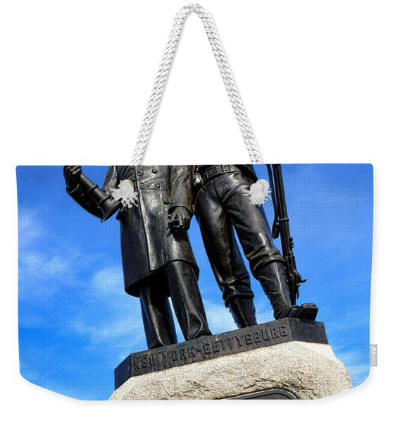 Gettysburg National Park 73rd Ny Infantry Second Fire Zouaves Memorial Weekender Tote Bag