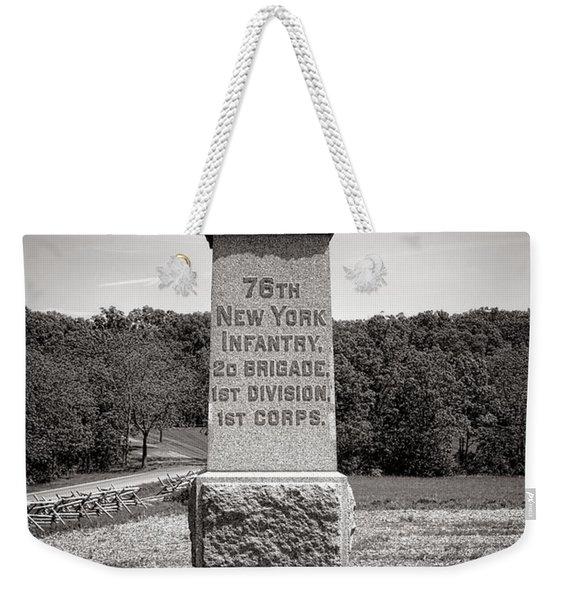 Gettysburg National Park 76th New York Infantry Monument Weekender Tote Bag
