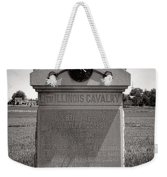 Gettysburg National Park 8th Illinois Cavalry Monument Weekender Tote Bag